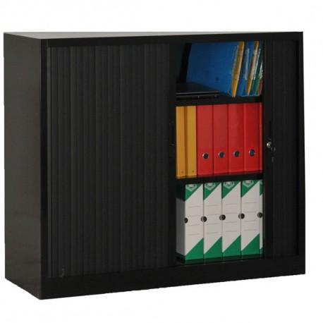 Armoire à rideaux noir H105 x L120 x P46 cm