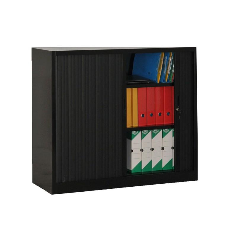 armoire rideaux noire hauteur 1m05 vestiaire vestimetal. Black Bedroom Furniture Sets. Home Design Ideas