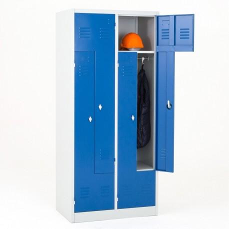 Vestiaire 4 portes en L monobloc
