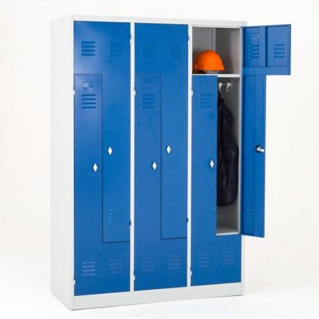 Vestiaire 6 portes en L monobloc
