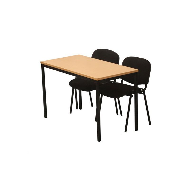 table polyvalente en bois 1m20 bureaux vestimetal. Black Bedroom Furniture Sets. Home Design Ideas