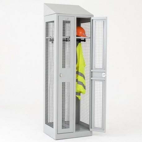 Vestiaire grillagé 2 cases H180 x L60 x P50 cm