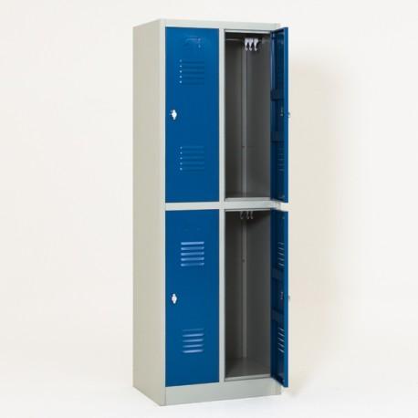 Vestiaire biplaces semi monobloc 4 casiers