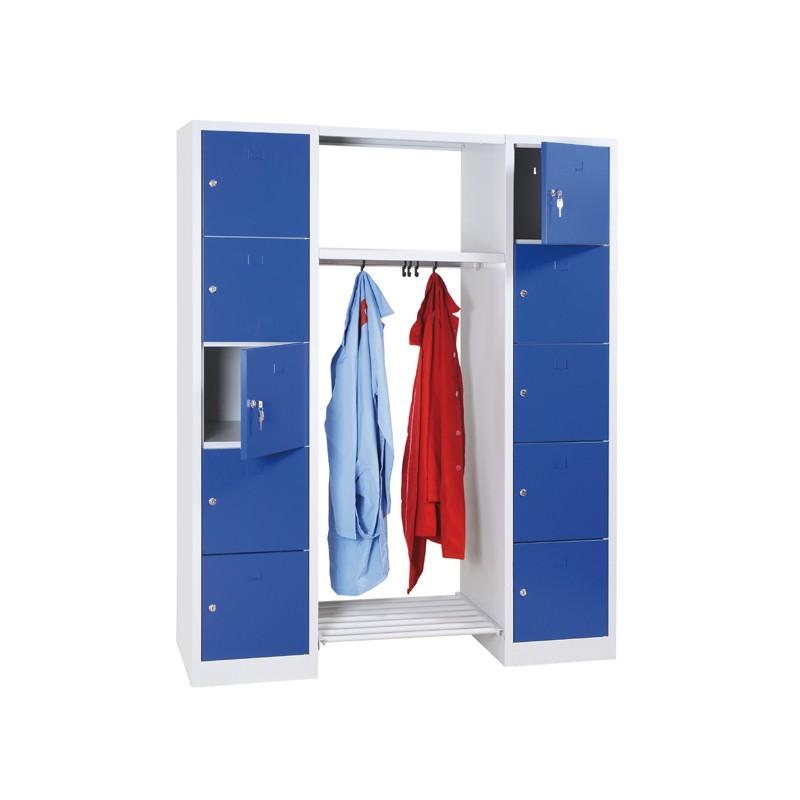 Vestiaire penderie multicases vestiaires porte manteaux - Porte manteau individuel ...