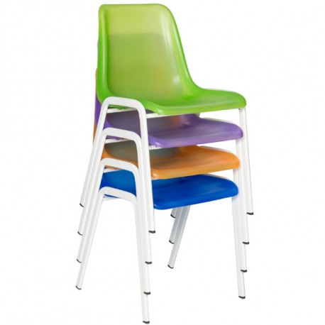 Chaise coque translucide