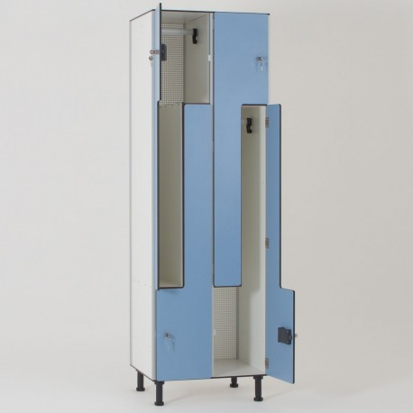 Vestiaire stratifié compact 4 cases