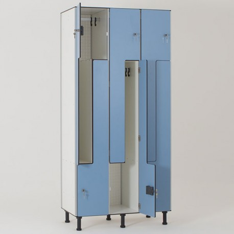 Vestiaire stratifié compact 6 cases