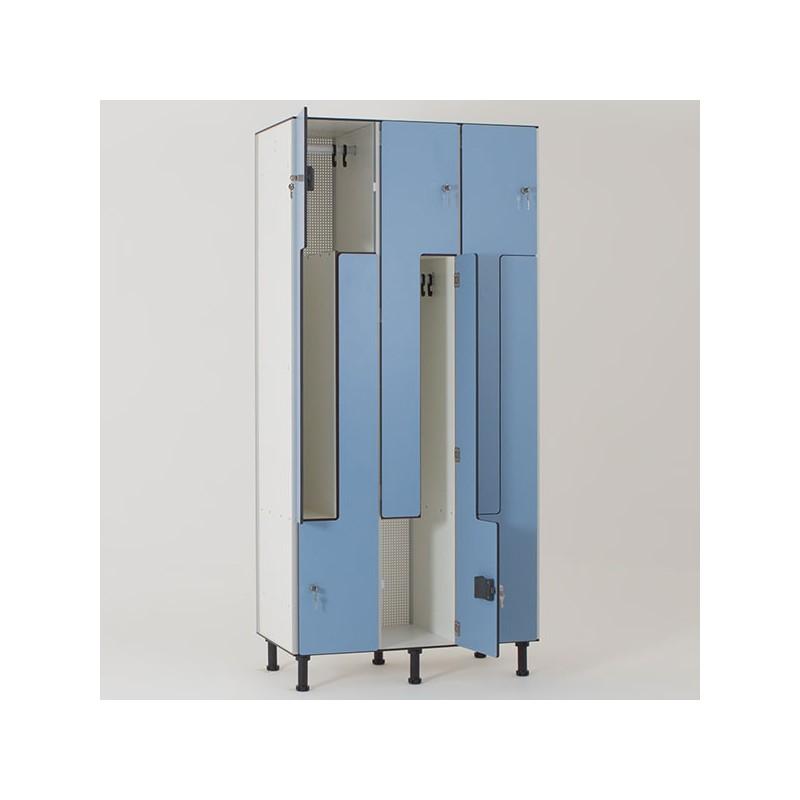 vestiaire stratifi compact 6 cases vestimetal. Black Bedroom Furniture Sets. Home Design Ideas