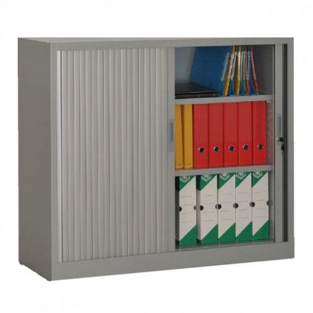 Armoire rideaux aluminium H105 x L120 x P46 cm