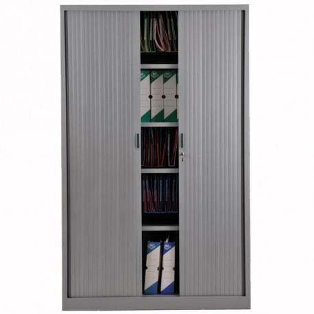 Armoire rideaux H195 x L120 x P46 cm aluminium