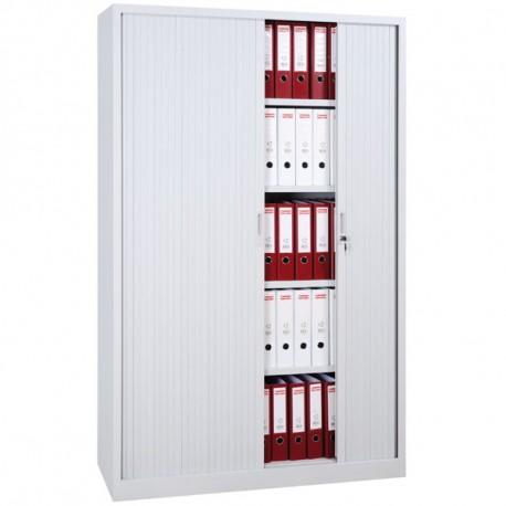 Armoire rideaux blanc H195 x L120 x P46 cm