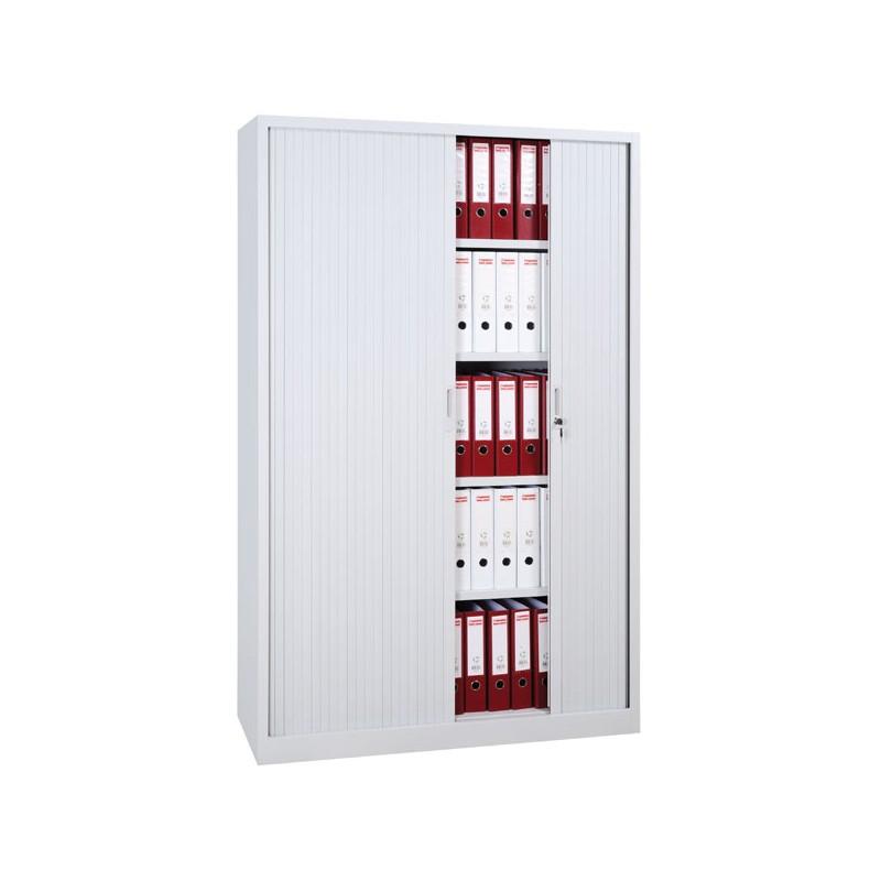 armoire rideaux blanche 195 x 120 x 46 cm vestimetal. Black Bedroom Furniture Sets. Home Design Ideas