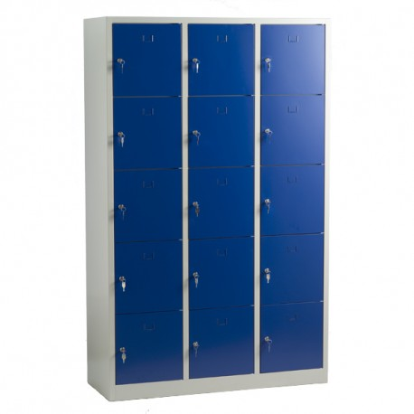 Vestiaire multicases 15 cases monobloc