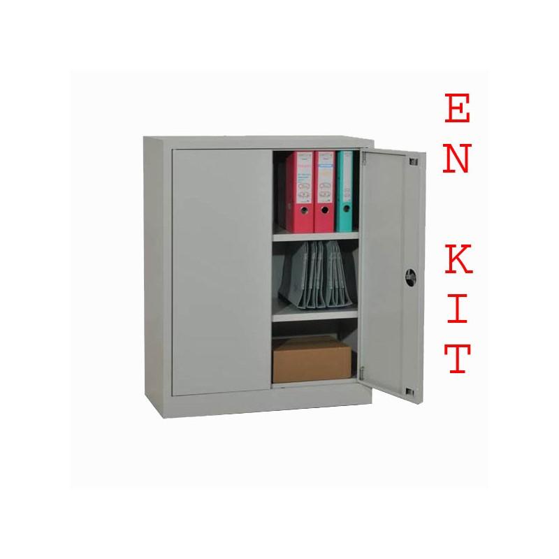 armoire m tallique en kit h100xl80xp40cm. Black Bedroom Furniture Sets. Home Design Ideas