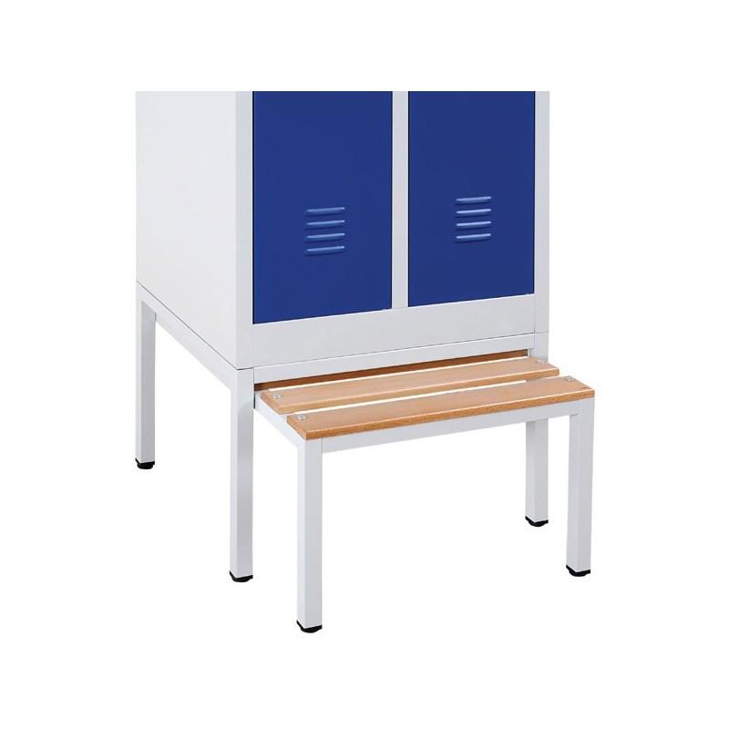 socle banc r tractable 80cm vestiaire 2 cases sale monobloc. Black Bedroom Furniture Sets. Home Design Ideas