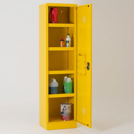 Armoire de sûreté produits dangereux / chimiques H195 x L50 x P42 cm