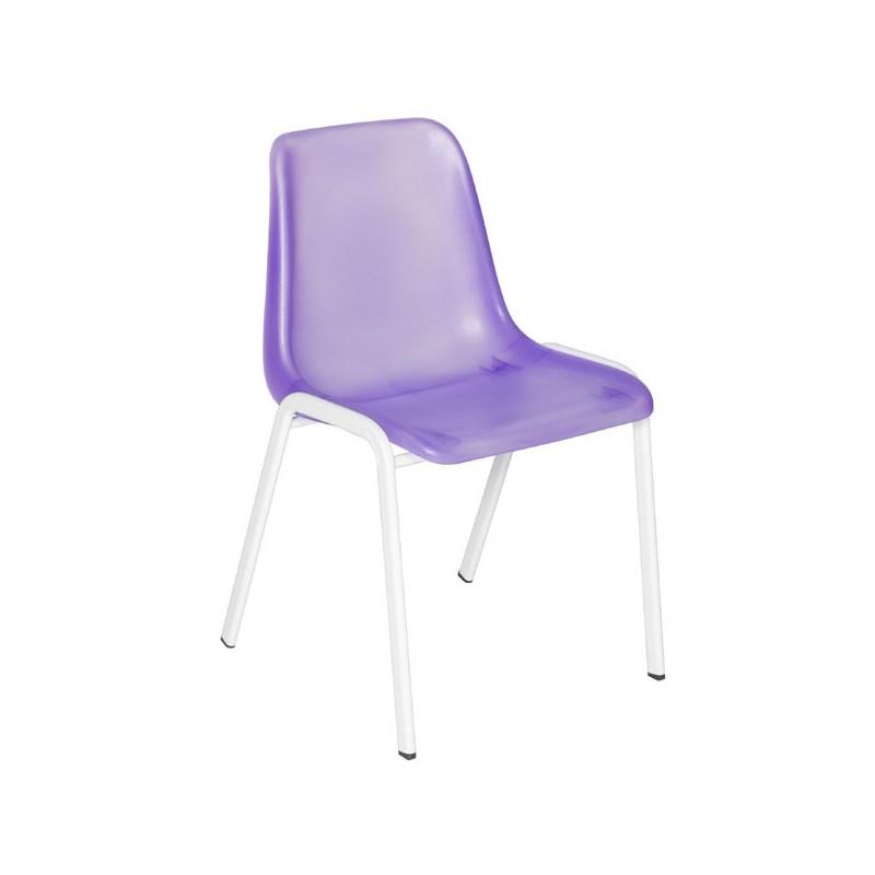 Chaise de bureau coque translucide vestimetal for Chaise coque