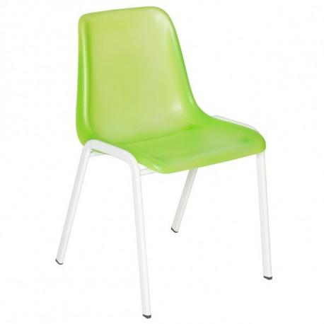 Chaise coque translucide vert
