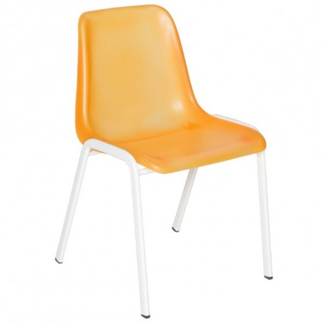 Chaise coque translucide orange
