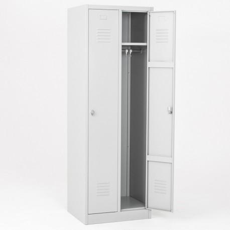Vestiaire propre 2 cases Eco portes grises
