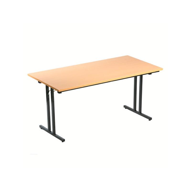 Table pliante polyvalente en bois 180x80cm mobilier vestimetal - Table pliante professionnel ...