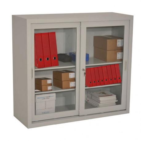 Armoire à portes vitrées H109 x L120 xP50 cm