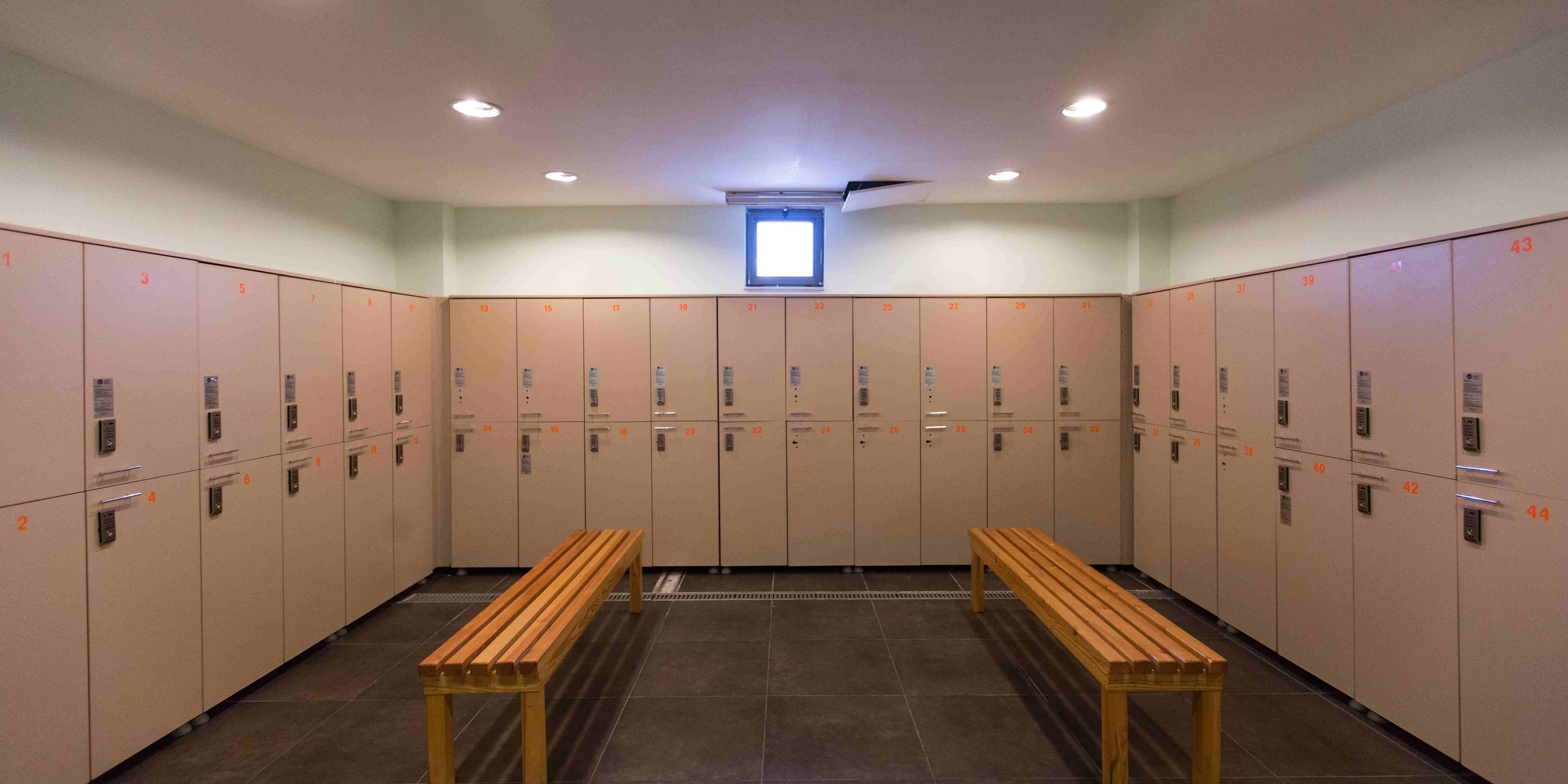 vestiaire salle de sport