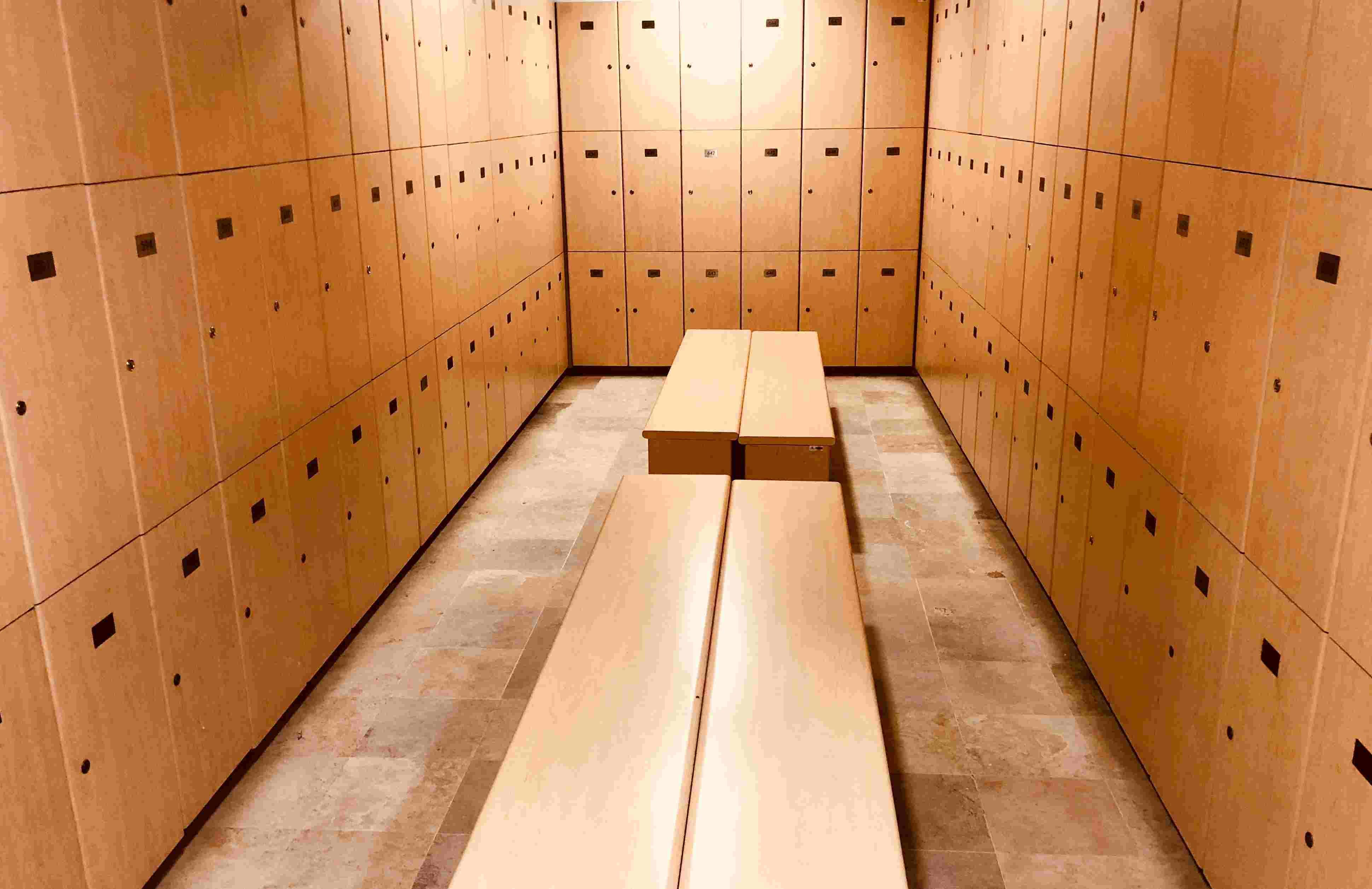 casiers salle de sport